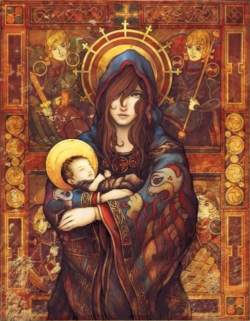 ninebreaker-at-deviantart-madonna-and-child